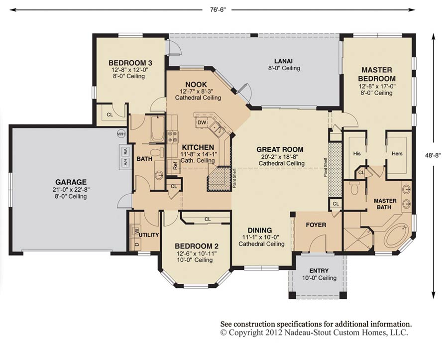 Antigua signature floor plan nadeau stout custom homes for Great room home designs