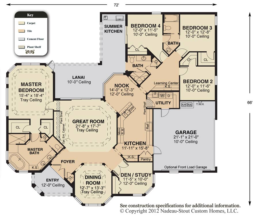 Cheyenne Floor Plan  Nadeau Stout Custom Homes Ocala FL